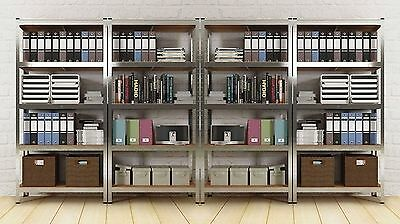 Metal Rack Tower Unit Sturdy Strong Open Shelves Bookcase Home Office Industrial