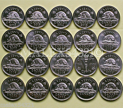 Canada 2001P To 2018 Set Of 5 Cents (22 Coins)      >>Free $Hipping In Canada!<<