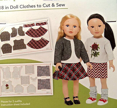 "Simplicity 18"" Doll Clothes To Cut & Sew  Tailored T"