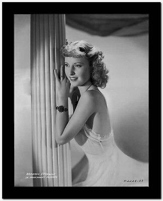 Barbara Stanwyck Leaning Pose Classic Portrait High Quality Photo