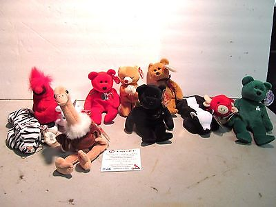 Lot of 11 Beanie Babies some with Tag Errors and Mistakes