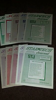 Lot of 10 different issues of Star Tech Journal from 1989 Arcade repair journal.