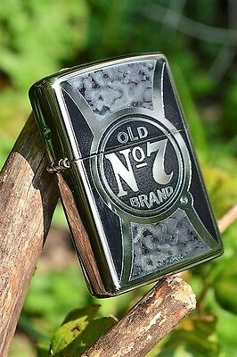 Zippo Lighter - Jack Daniels Old No. 7 - Tennessee Whiskey - Fusion - 29233
