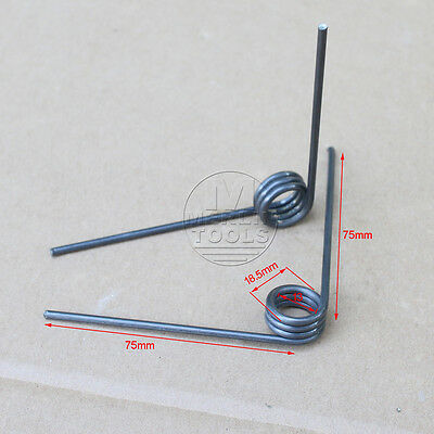 2 PCS Wire Dia 2.5mm OD18.5mm 4 Coils 90 degree Torsion Spring