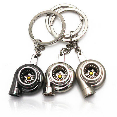 Yeah Creative Metal Keyring Blower Turbo Model Keychain Car Key Chain Ring Gift