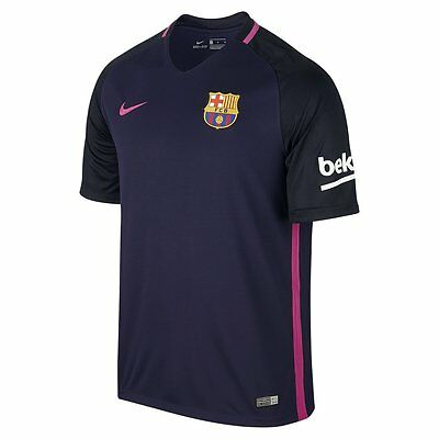 2016-2017 Barcelona Authentic Away Purple Top Jersey Royal Soccer Large Football