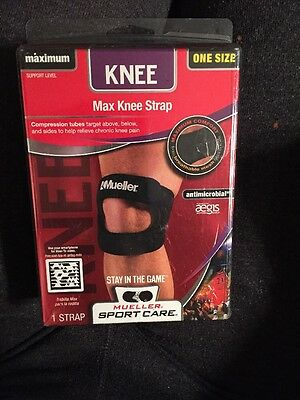 c5e2913ffd Mueller Max Knee Strap Adjustable Maximum Support Level # 59857 One Size