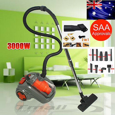 3000W Bagless Cyclone Cyclonic 50Hz Vacuum Cleaner Filtration System Floor Brush