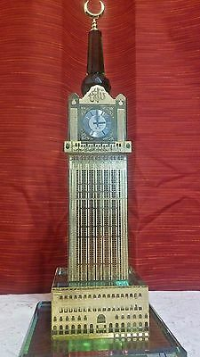 LARGE Meccah Clock Tower Gold plated K9 Crystal souvenir building architecture