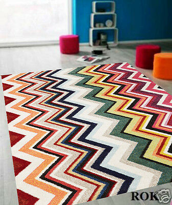 BEST-HOME COLOURFUL 15mm THICK LARGE MODERN FLOOR RUG RUGS  3 sizes GEM-504