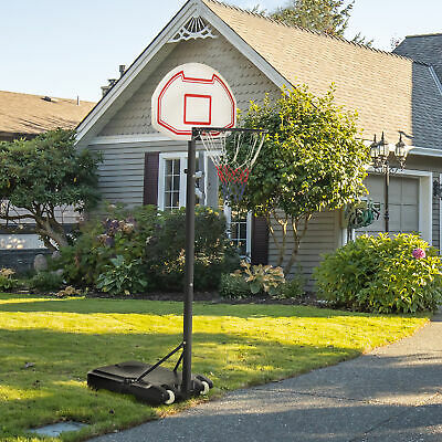 Soozier Basketball Stand Wheel Moveable Adjustable Height Sport Game Backboard