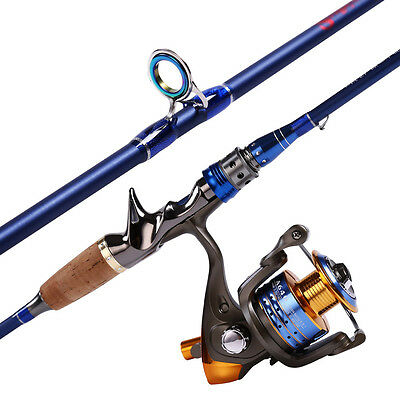Spincasting Fishing Rod and Reel Kits 2section with Extra Tips Saltwater Fishing