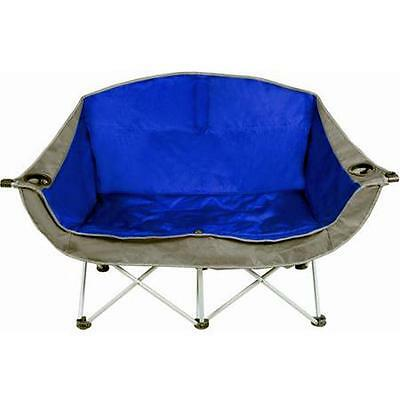 Camping Love Seat 2 Person Outdoor Folding Double Chair Camp Beach Fishing Patio