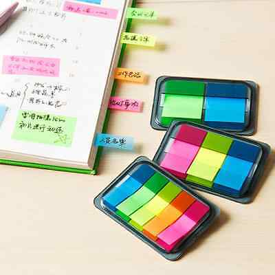 Small Sticky Rainbow Notes Paper Diary Notebook Memo Pad Tab Note