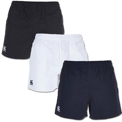 Canterbury Men's Professional Match Cotton Rugby Shorts (with pockets)