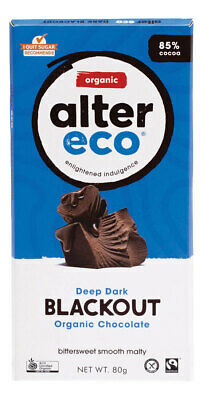 Organic Dark Blackout Chocolate 80g - Alter Eco