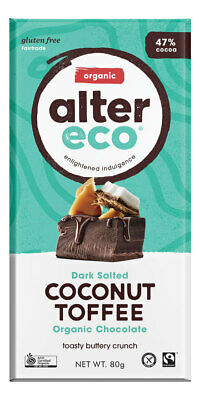 Organic Chocolate - Dark Coconut Toffee 80g - Alter Eco