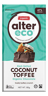 Organic Dark Coconut Toffee Chocolate 80g - Alter Eco