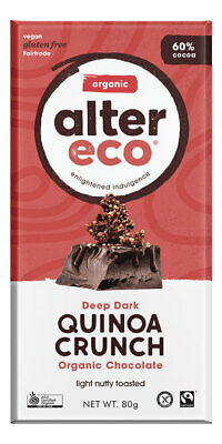 Organic Chocolate - Dark Quinoa 80g - Alter Eco