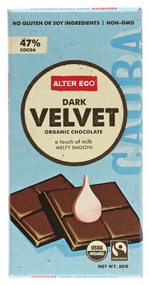 Organic Dark Velvet Chocolate 80g - Alter Eco
