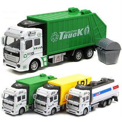 1/48 Scale Diecast Material Transporter Garbage Truck Vehicle Car Model Toys