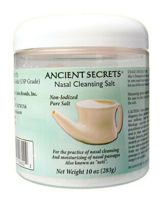 Pure Nasal Cleansing Salt for NETI Pot 283g - Ancient Secrets