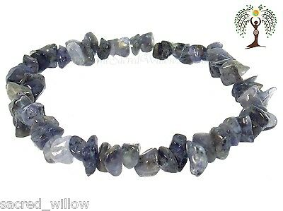 Blue Aventurine Gemstone Chip Stretch Bracelet Crystal Stone + Bag