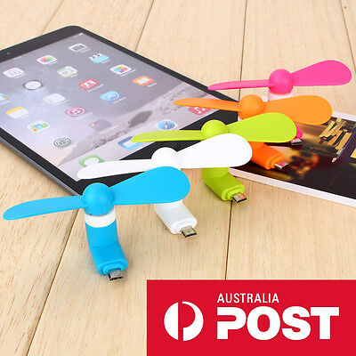Portable Travel Mini Cooling Fan USB Phone For iPhone Android - 6 Colours
