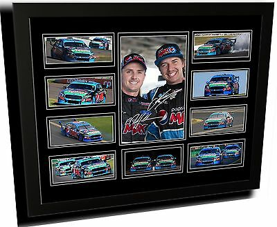 Mark Winterbottom & Chaz Mostert Ford Signed Limited Edition Framed Memorabilia