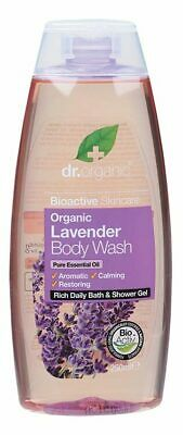 Organic Lavender Body Wash 250ml - Dr Organic