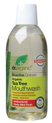 Organic Tea Tree Mouthwash 500ml - Dr Organic