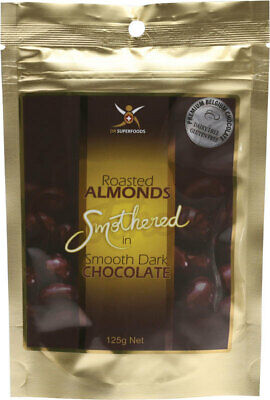 Dark Chocolate Roasted Almonds 125g - Dr Superfoods