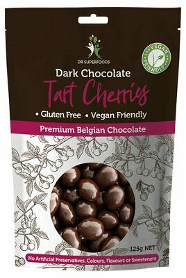 Dark Chocolate Coated Tart Cherries 125g - Dr Superfoods
