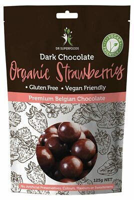Strawberry Delights - Dark Chocolate Strawberries 125g - Dr Superfoods