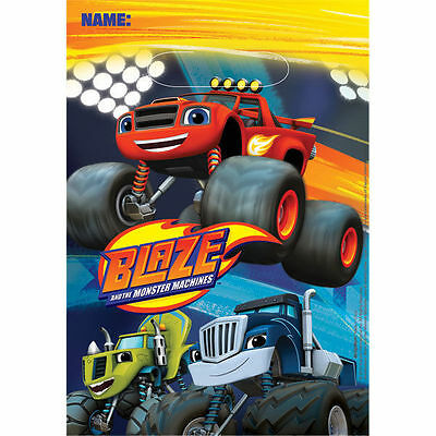 Blaze and the Monster Machines 8 Loot Bags Boys Birthday Party Trucks Cars Fun