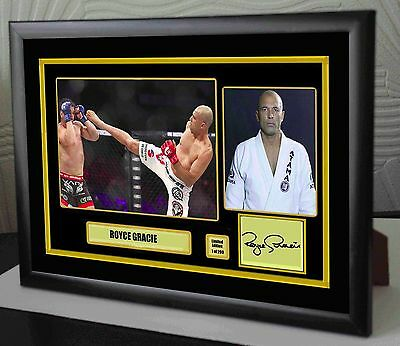 "Royce Gracie UFC canvas tribute signed Limited Edition ""Great Gift / Souvenir"""