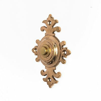 Antique Spanish Moors Push Button Doorbell Door Bell Electric Brass Vtg Moorish