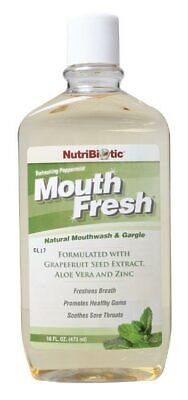 Natural Peppermint Mouthwash 473ml - Nutribiotic