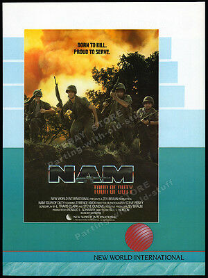 NAM - TOUR OF DUTY__Original 1987 Cannes Trade AD promo__TERENCE KNOX__TV series