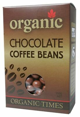 Organic Milk Chocolate Coffee Beans 150g - Organic Times