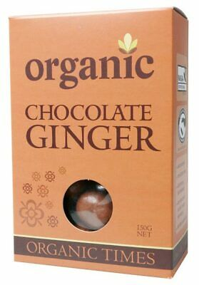 Organic Milk Chocolate Ginger 150g - Organic Times