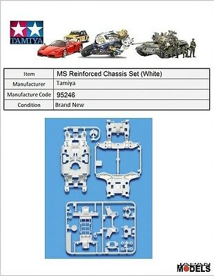 Mini 4wd MSL REINFORCED CHASSIS SET (WHITE) Tamiya 95246 New