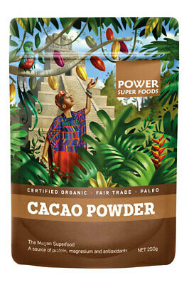 Raw Organic Cacao POWDER 250g - Power Super Foods
