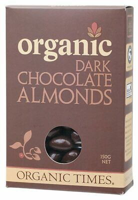 Organic Dark Chocolate Almonds 150g - Organic Times