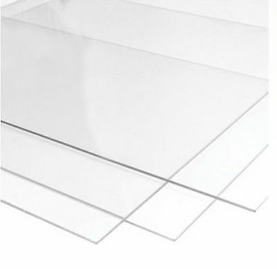Perspex Glass Styrene and M.D.F for Picture Frames 1.2mm Clear Transparent