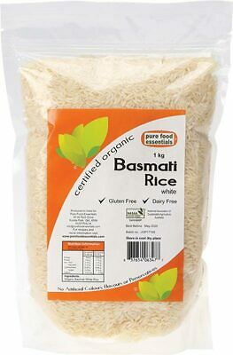 Organic Basmati Rice 1kg - Pure Food Essentials