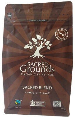 Fairtrade Organic - Sacred Blend Coffee Ground (Espresso)  250g - Sacred Grounds