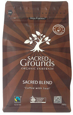 Organic Sacred Blend Coffee (Plunger) 250g - Sacred Grounds