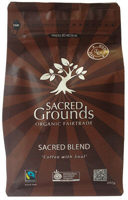 Fairtrade Organic - Sacred Blend Whole Coffee Beans  250g - Sacred Grounds
