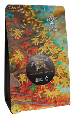 Fairtrade Organic - PNG Coffee Ground (Espresso)  250g - Sacred Grounds